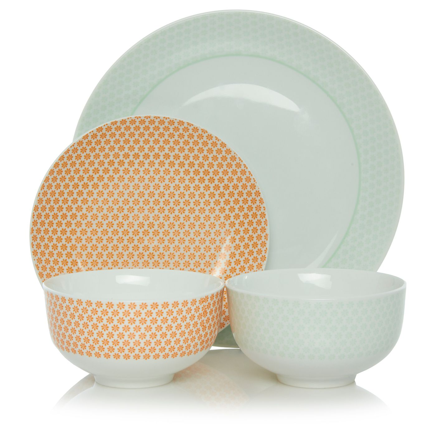Pretty starter dinner set mix and match in four colours spring summer asda  sc 1 st  Pinterest & George Home 12 Piece Summer Meadow Dinner - Set | View all Kitchen ...