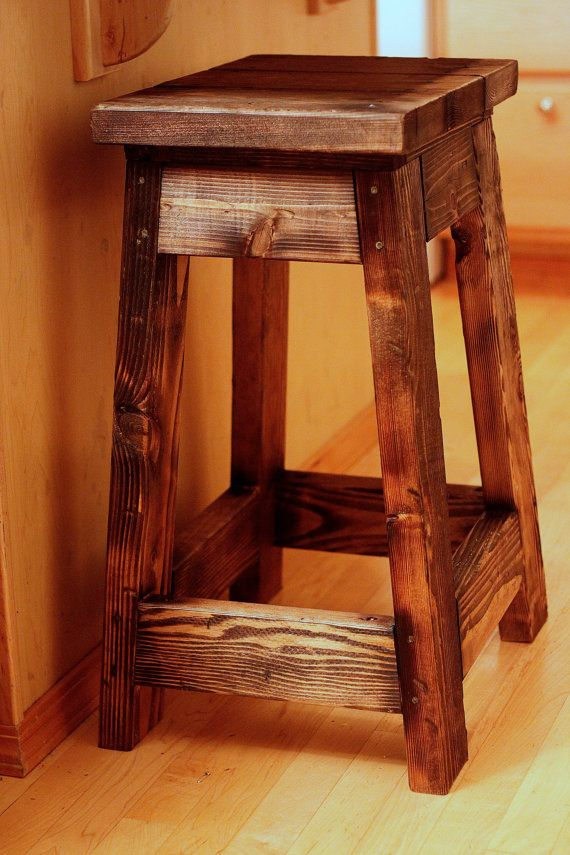 Farmhouse Stool Rustic Ranch Outfitters Home Decor Etsy