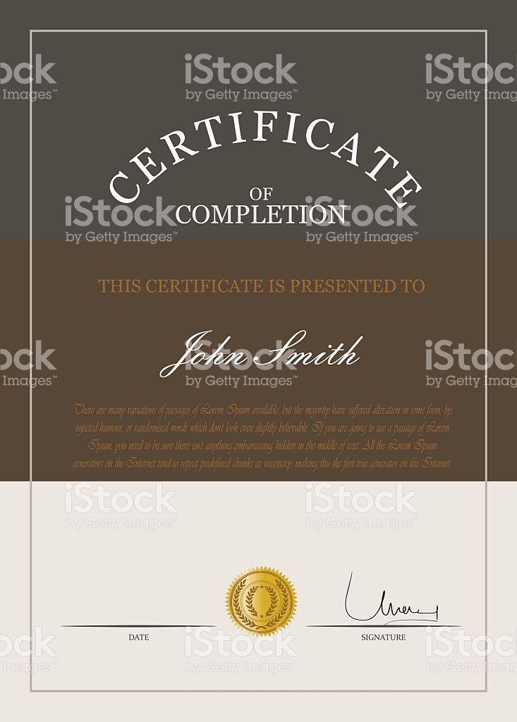 Certificate template vector Template