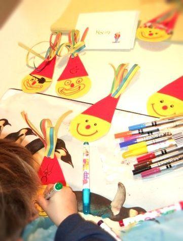 einladung für den kinderfasching selber basteln. anleitung, deko, Einladungen