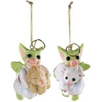 The Lion and the Lamb (set of two ornaments)