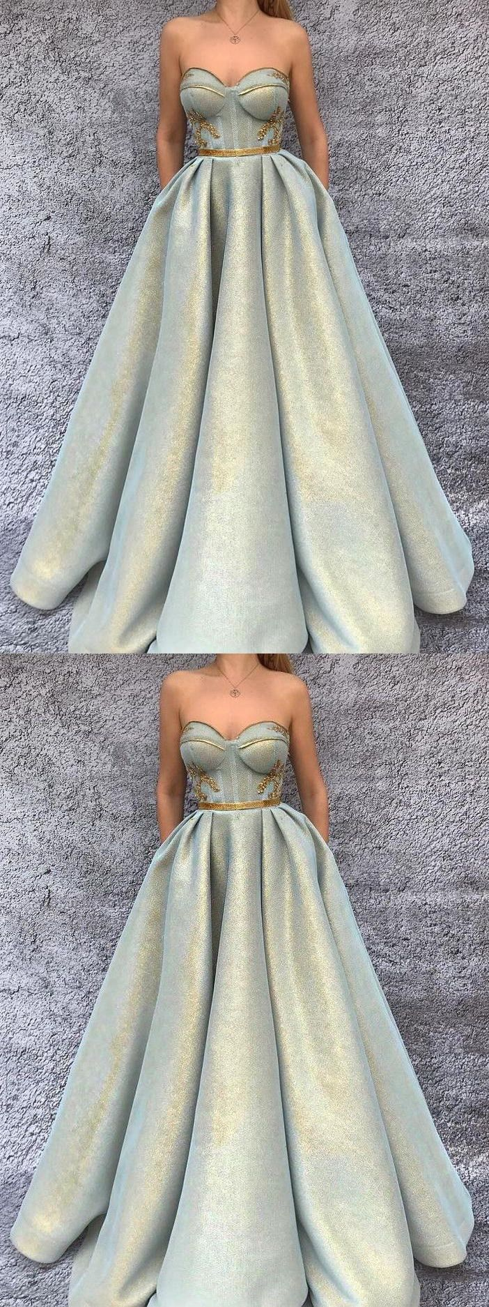 chic aline prom dresses sweetheart modest long prom dress