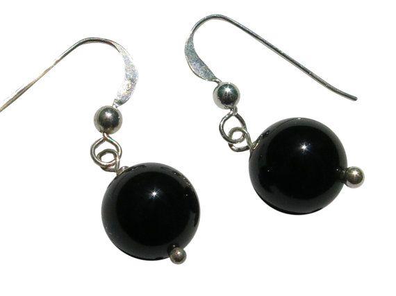 15 OFF  Sterling Silver Black Onyx Drop by BlueBreezeJewelry, $13.99