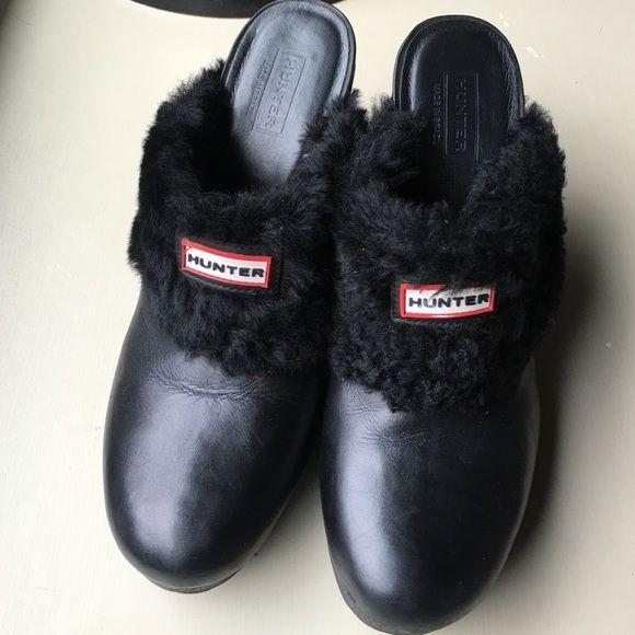 Hunter Bruson - Size 8 Black Leather Shearling EUC