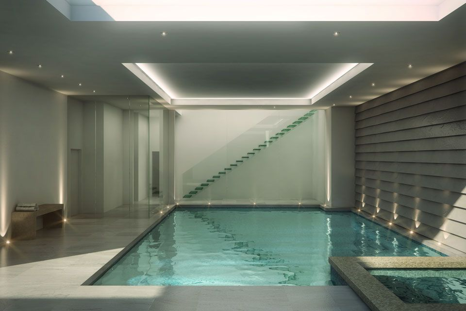 Basement swimming pool artist impression of a basement for Basement swimming pool ideas