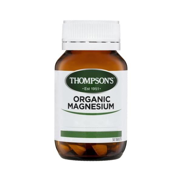 20+ Thompson&39;s Organic Magnesium Muscle Health 50 Tablets
