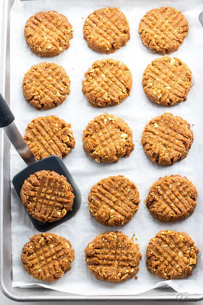 SugarFree Low Carb Peanut Butter Cookies Recipe 4