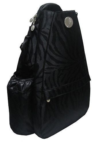 JetPac Black Knight Small Sling Tennis Bag by Jetpac. $69.95. JetPac Black Knight Small Sling Tennis Bag. This bag is petite and sleek, with an adjustable shoulder strap to wear over your right or left shoulder and a small handle on top of the bag to carry in-hand. The small sling has a single racquet compartment that will hold two racquets. The main compartment has pockets for personal items. There is a zipper compartment on the front of the bag which contains an organizer fo...