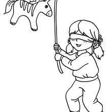 Birthday Pinata Coloring Page Coloring Page Birthday Coloring