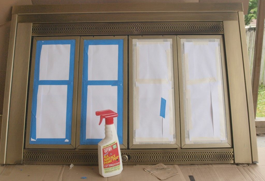 Painting Brass Fireplace Doors For The Home Pinterest