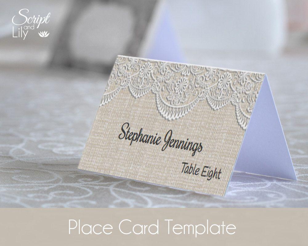 DiY Place Cards Template