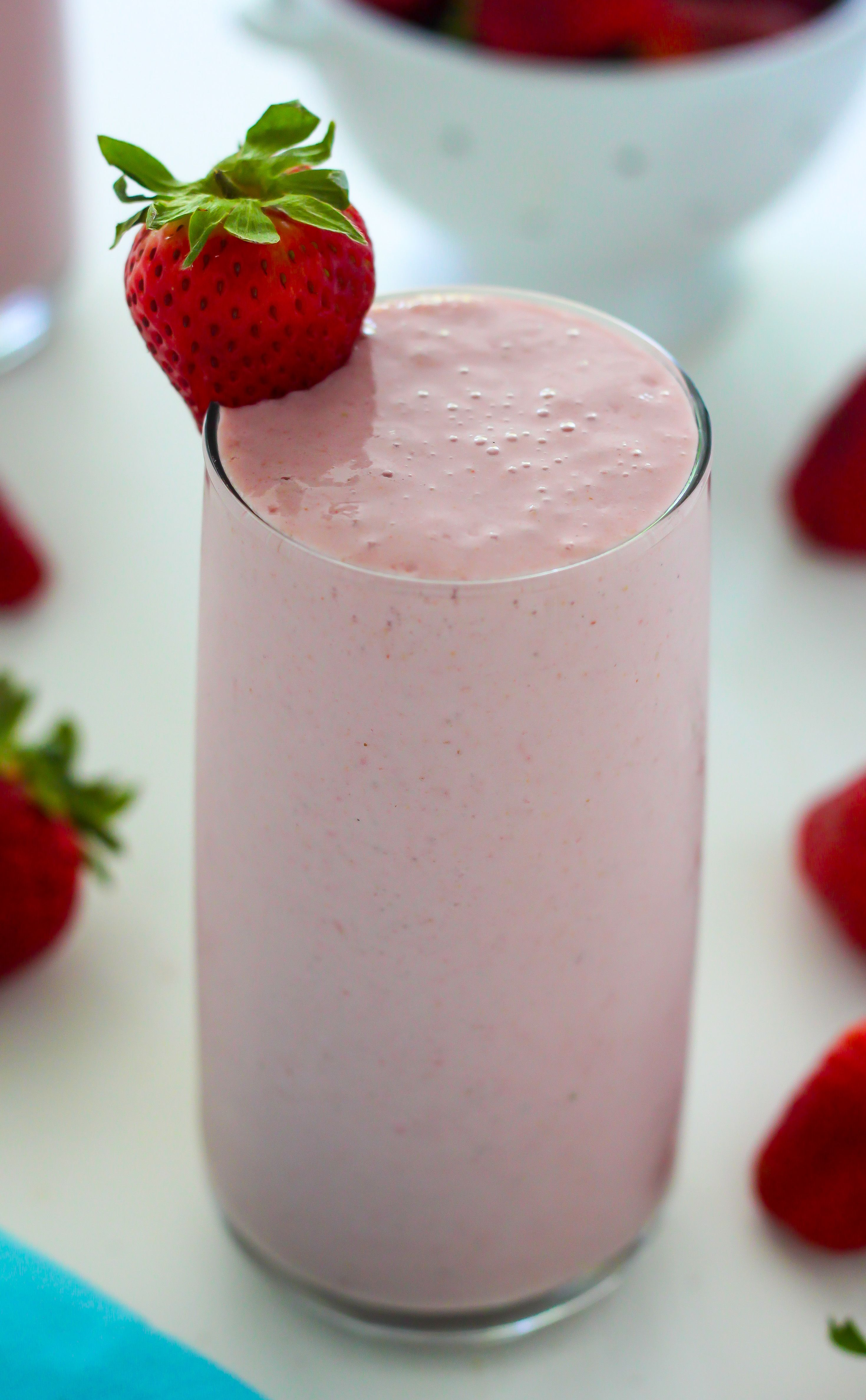 Strawberry vanilla smoothie baker by nature recipe