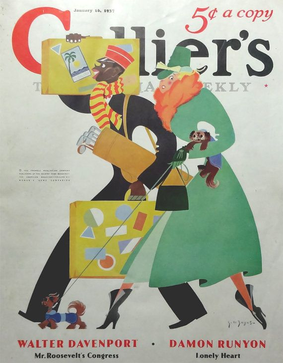 1937 Colliers Weekly Magazine January George de by OakwoodView