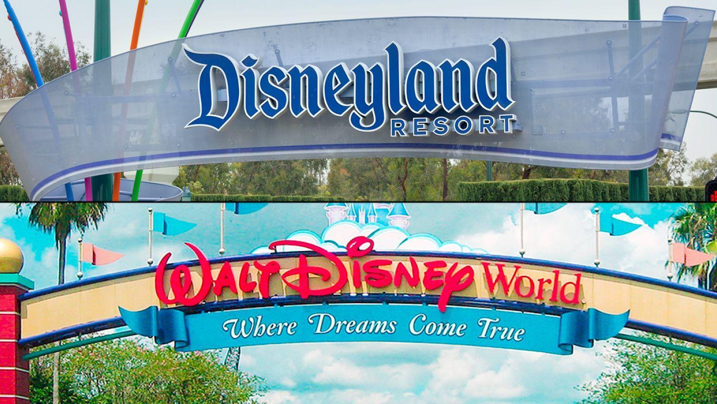 Couple Visits Disney World Disneyland On Same Day It Was Incredible Theme Park Disneyland Disney World