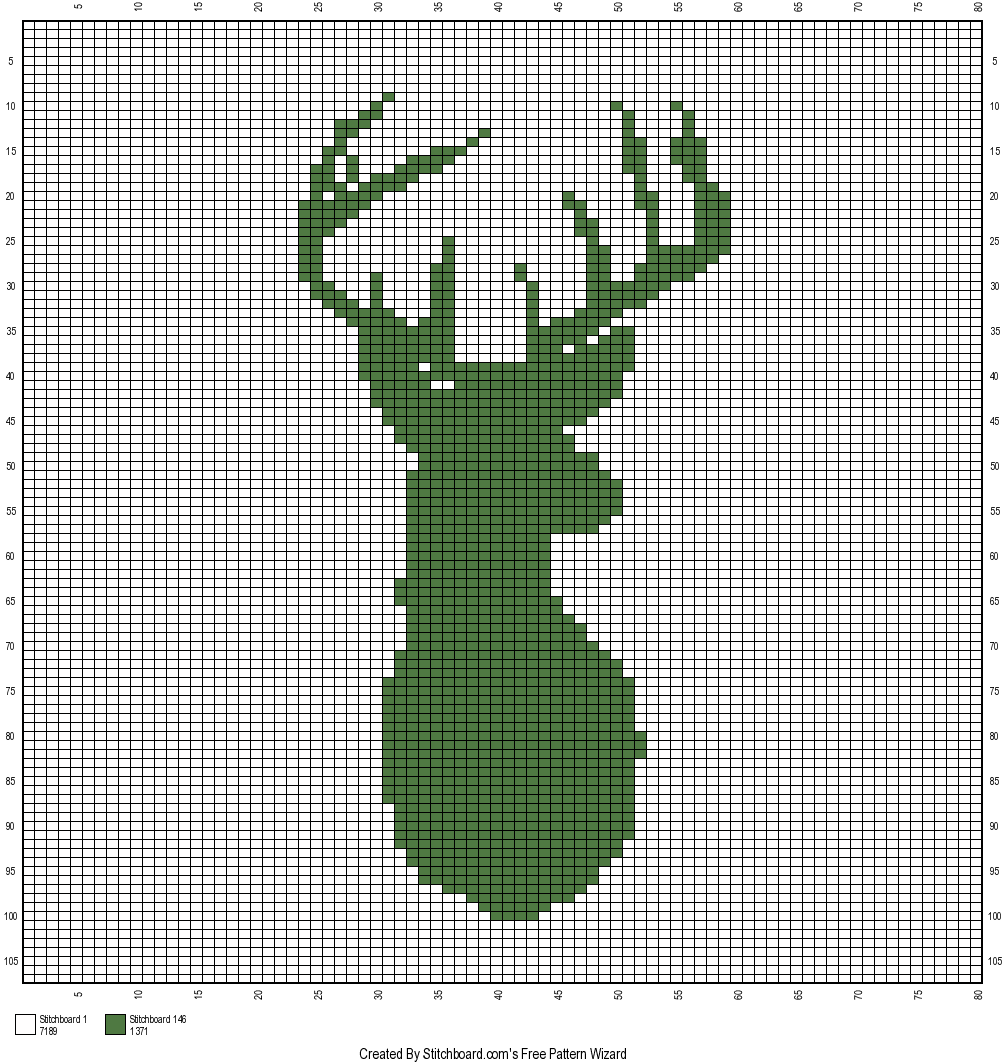 The Faux Menno: Deer Mount crochet graph Free pattern | I am ...