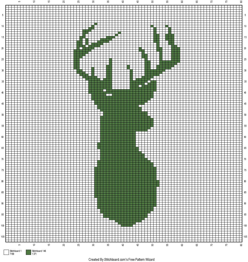 The Faux Menno: Deer Mount Crochet Graph Free Pattern