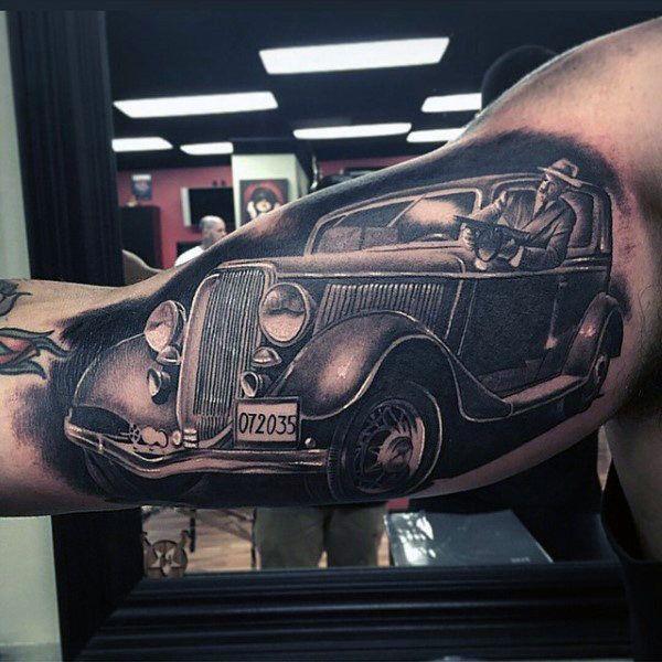 50 Gangster Tattoos For Men Mobster Design Ideas Chicano