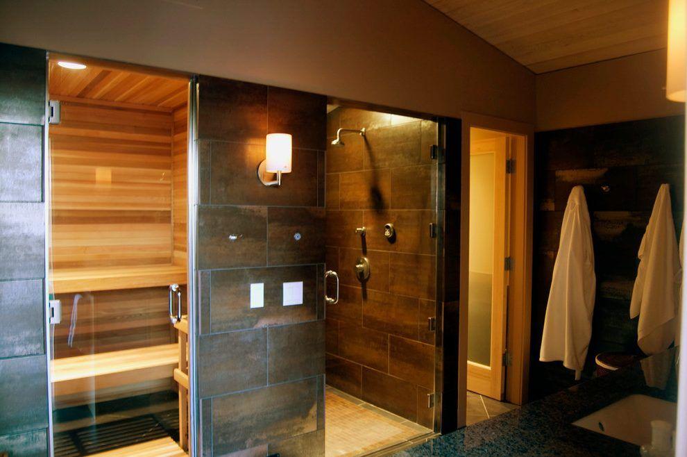 Sauna Shower Combo Bathroom Contemporary With Steam Shower Home Gym Bathroom