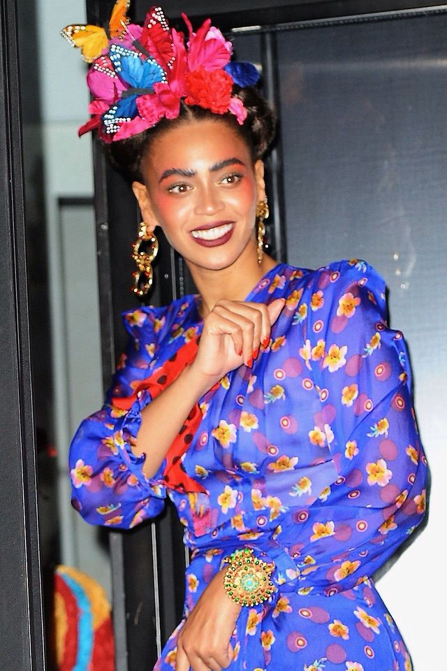 Beyoncé as Frida Kahlo & Blue Ivy as Picasso Baby at the Halloween Party in NYC Oct 31st, 2014