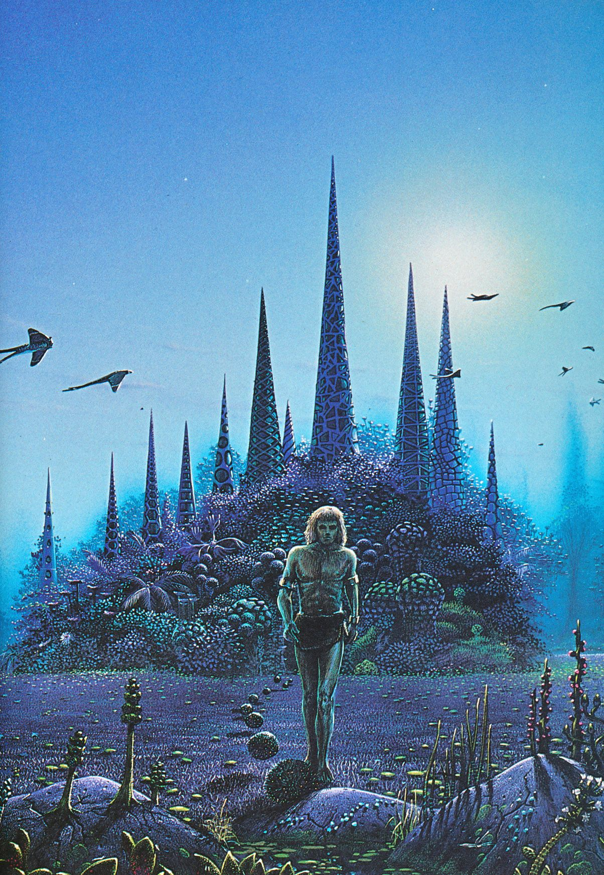 Book Cover Illustration Fee : Cover painting by tim white for the book 'stranger in a