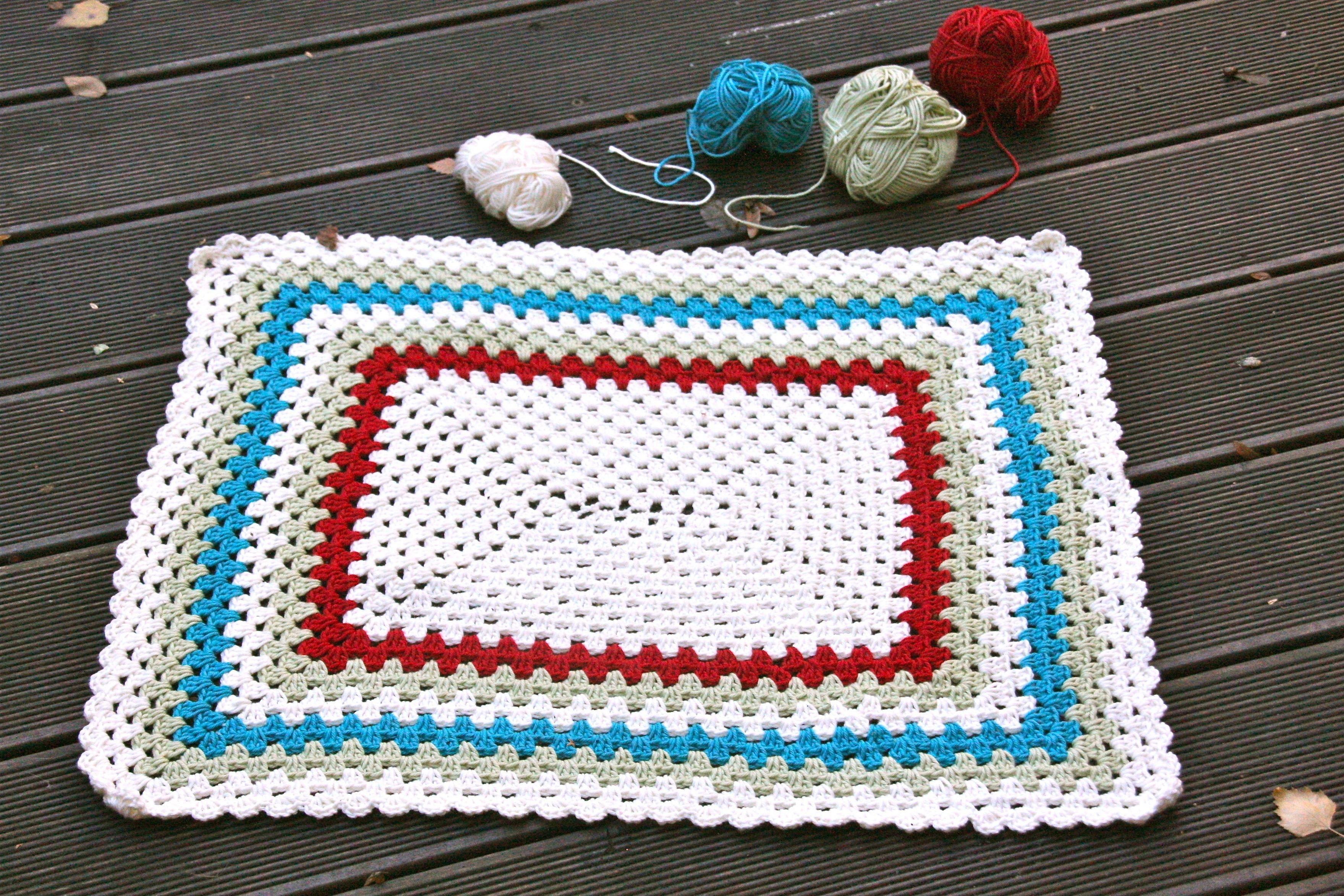 Tutorial Badematte Hakeln Stricken Pinterest Diy Crochet
