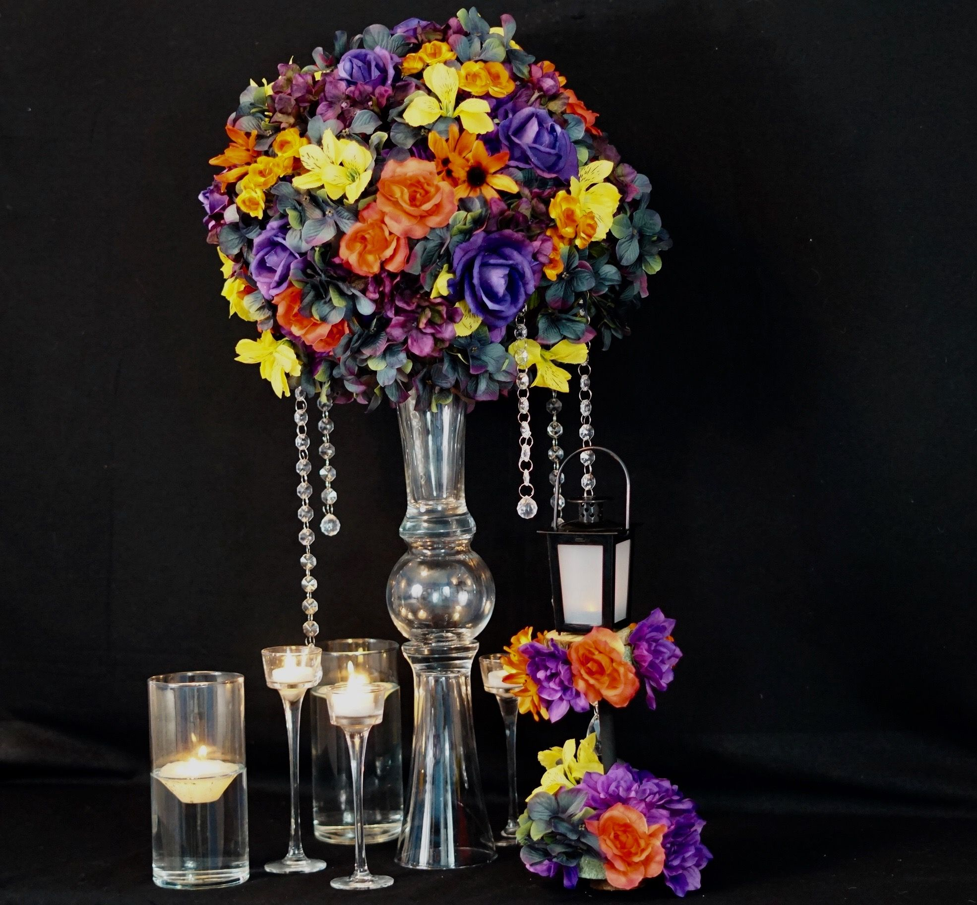 How to Make a Tall Fall Wedding Centerpiece with a 3 DIY
