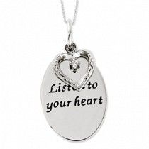 Listen To Your Heart  Inspiration Necklace #inspirationalnecklaces