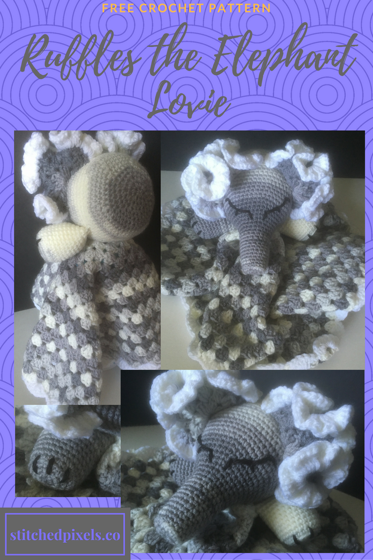 Free Crochet Pattern Baby Lovey, Plushie, perfect shower gift | Free ...