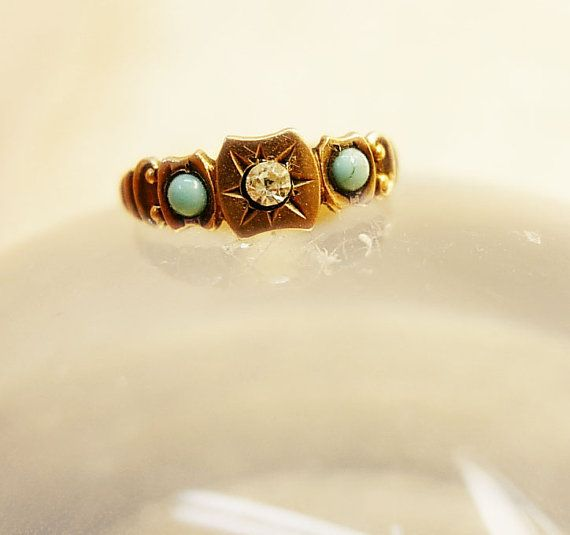 victorian gold baby ring #stylesquared