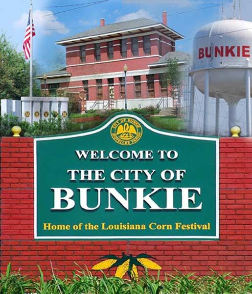 Bunkie Louisiana Train Depot Water Tower Military Memorial