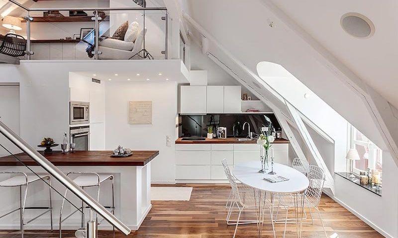 Küche mit Dachschräge Deko Pinterest Interiores - küche in dachschräge