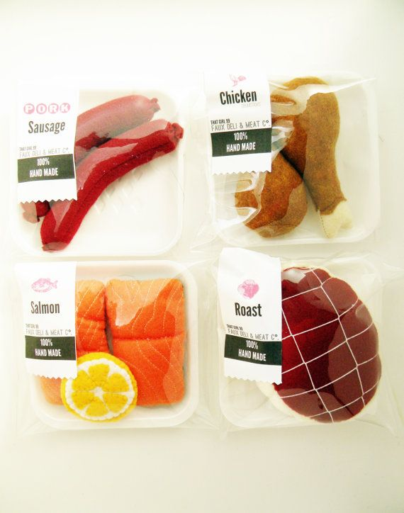 "Packaged /""Salmon/"" in Plastic Tray 1:12 Dollhouse Miniature Meat"