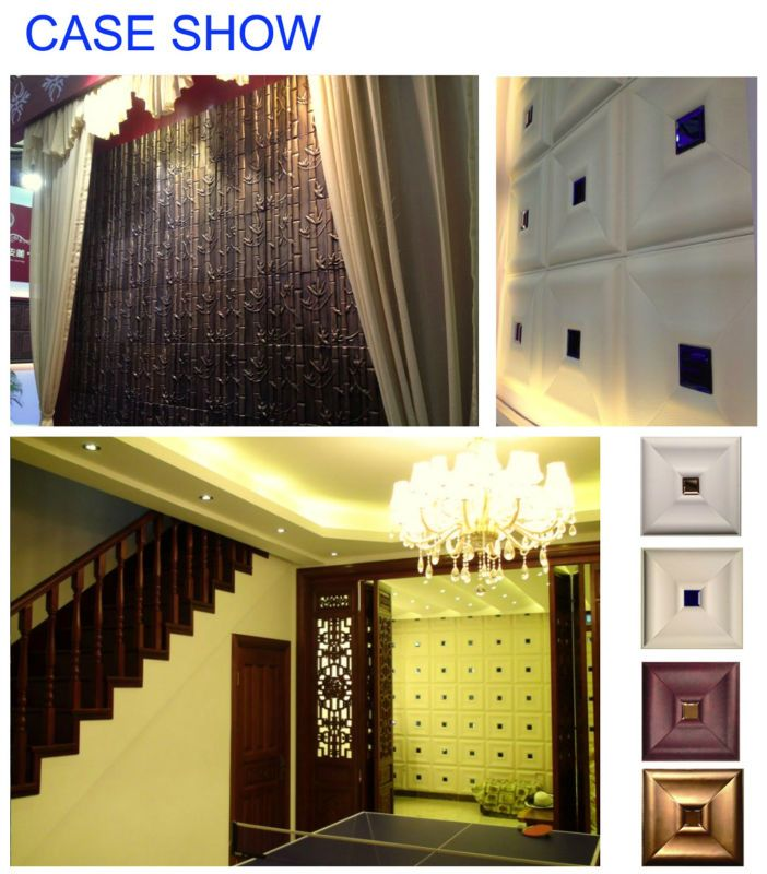 kinds of leather 3d wallpaper decorative wall panels -certificated ...