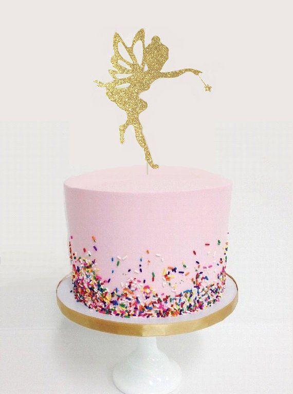 Fairy Glitter Cake Topper Tinkerbell Birthday Birthdaybirthday