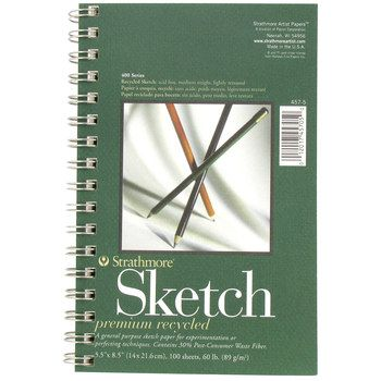 5 1 2 X 8 1 2 Strathmore 400 Series Recycled Spiral Sketch Pad