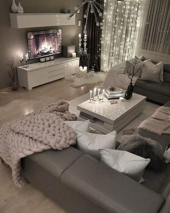 Loving This Grey Modern And Cozy Living Room Decor Livingroom Decor Designsforlivin Living Room Decor Cozy Living Room Decor Apartment Apartment Living Room