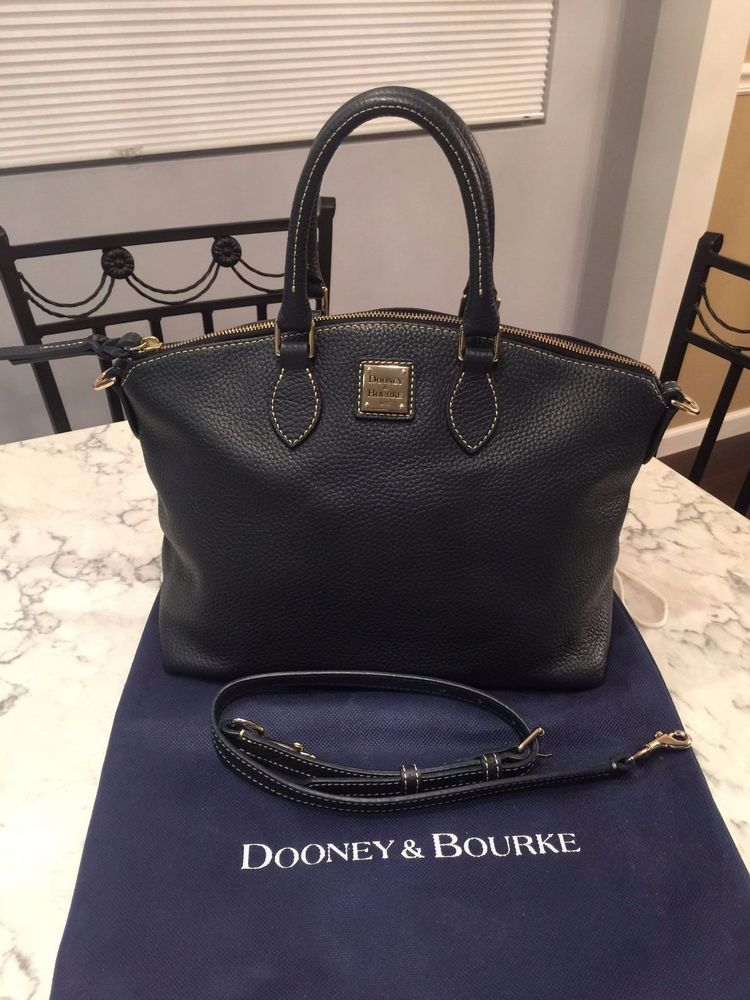 Dooney & Bourke All Weather Leather Domed Satchel Tote Shoulder Bag Purse EUC! #DooneyBourke #Satchel BEAUTIFUL!!! SALE!!!
