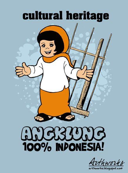 Angklung 100 Indonesia Kartun Indonesia
