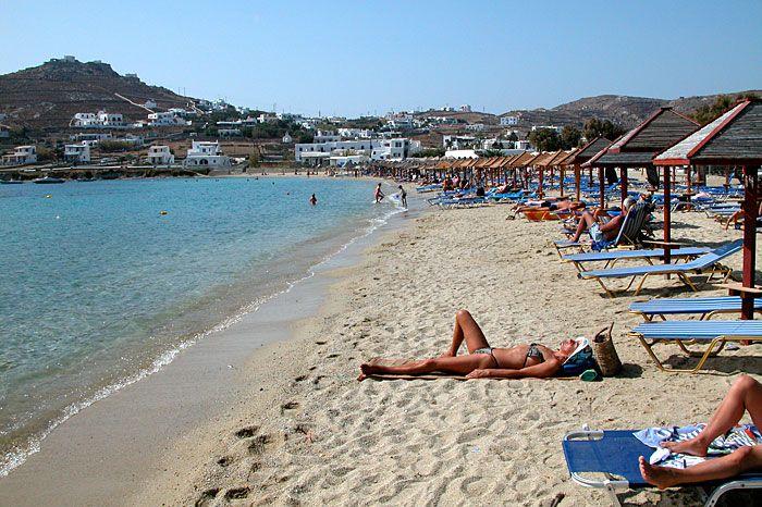 Psarou Beach Mykonos Greece With