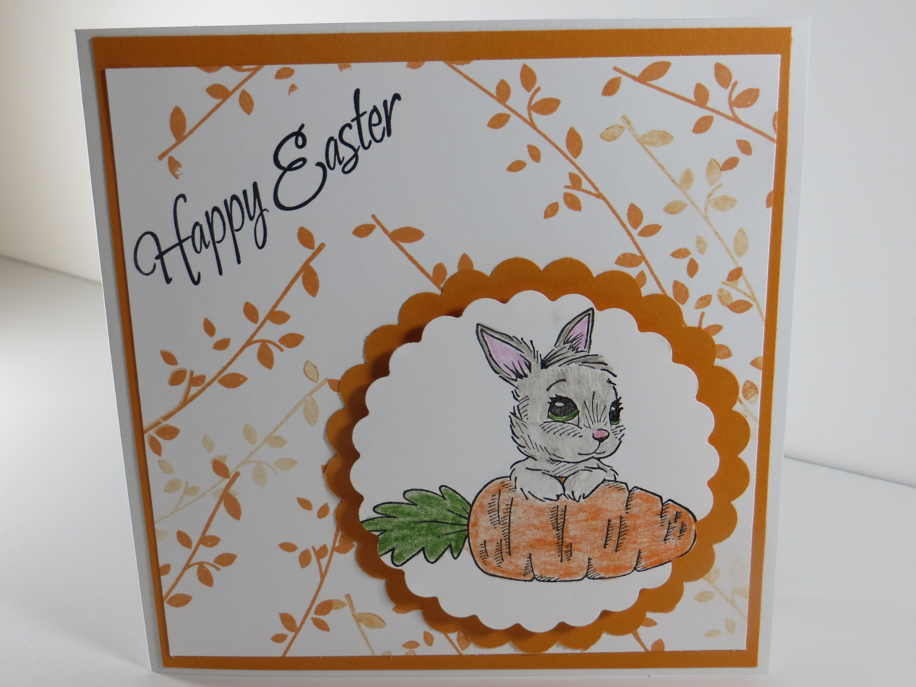 Happy Easter Card Easter Cards Handmade Easter Card Bunny