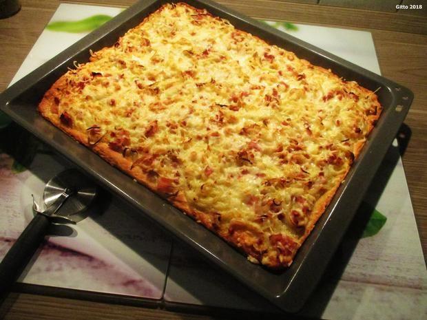 Zwiebelkuchen mit Quark-Öl-Teig #pizzateig