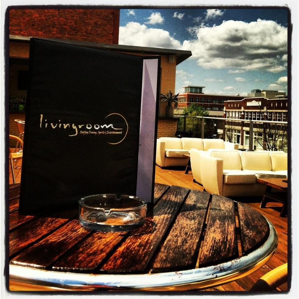 """The Living Room"" Rooftop Outdoor Martini Lounge. Columbus"