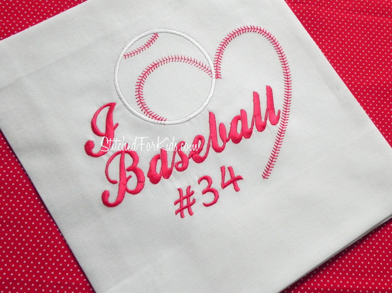 Personalized Baseball Love Shirts. $23.00, via Etsy.
