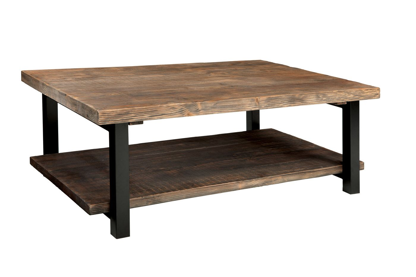 This Pomona 48 Inch Wide Coffee Table Is Perfect In Front Of Your Favorite Couch The Shelf Below Provides Coffee Table Cool Coffee Tables Rustic Coffee Tables