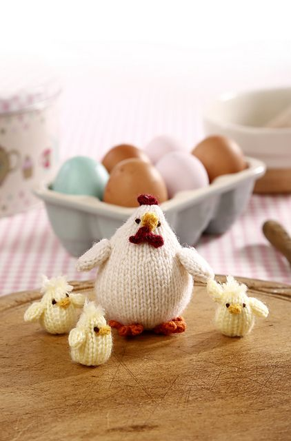 Mother Hen and Three Little Chicks pattern by Sachiyo Ishii   Hens ...
