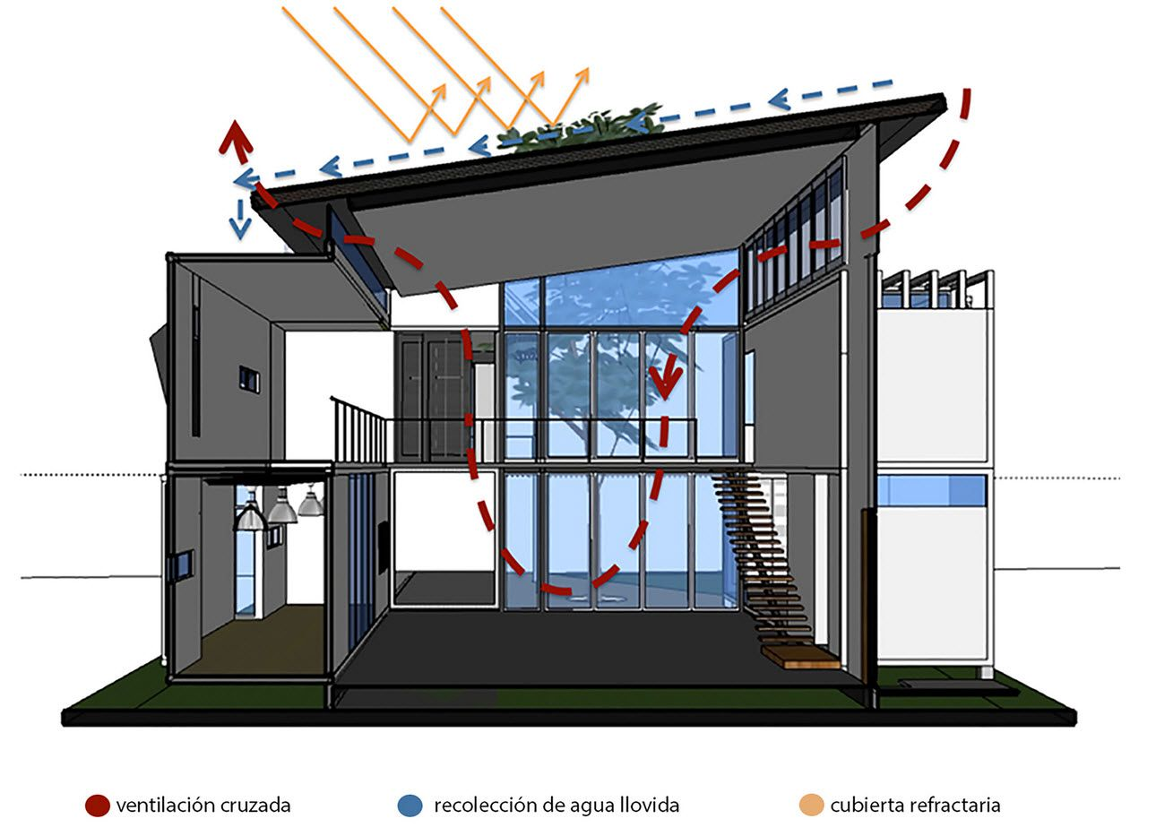 Planos y construcci n de casa contenedor casa pinterest for Casas de diseno grafico en la plata