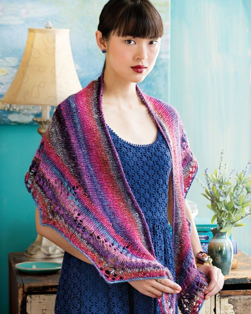 Noro magazine 6 10 crescent shape shawl designed by vanessa putt noro knitting patterns noro magazine issue 6 springsummer 10 crescent shape shawl from laughing hens bankloansurffo Gallery