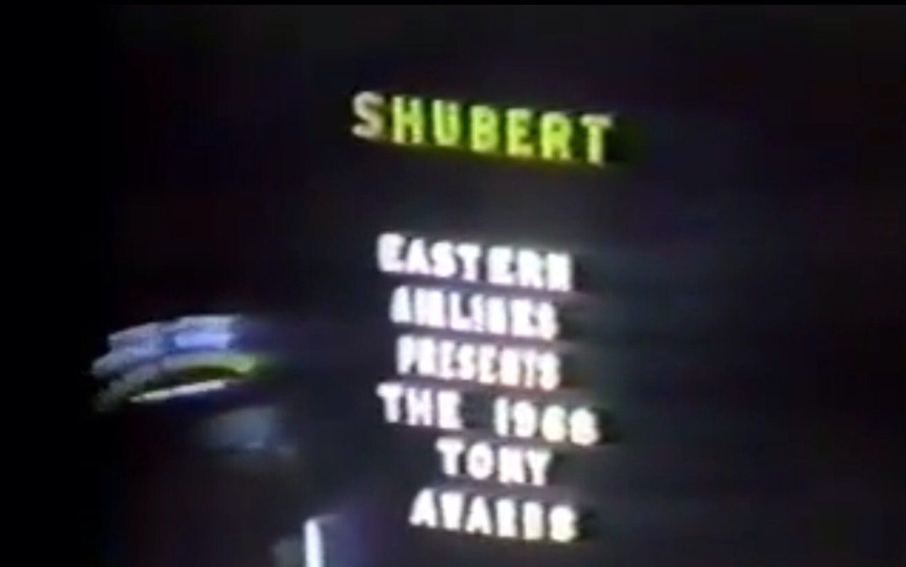 broadway marquee 1968 tony awards shubert theatre golden rainbow