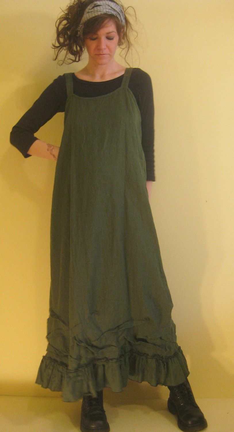 Love this!!  Long Ruffle Slip Dress by sarahclemensclothing on Etsy, $149.00 look at the hem!!!