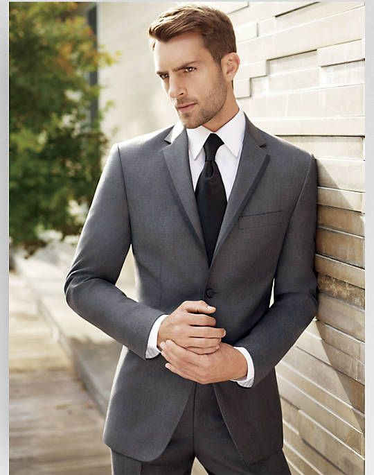 BLACK by Vera Wang Gray Slim Fit Tuxedo - Tuxedos | Men's ...